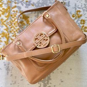 Tory Burch Amanda Satchel Mini Tan Crossbody Bag